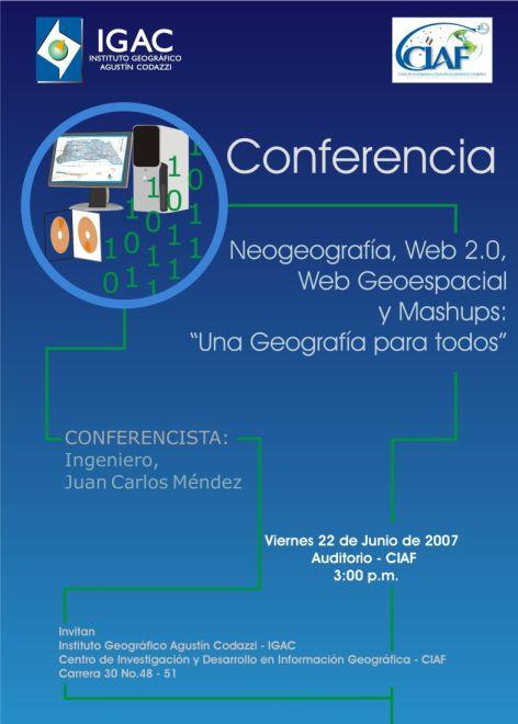 Conferencia Neogeograf�a